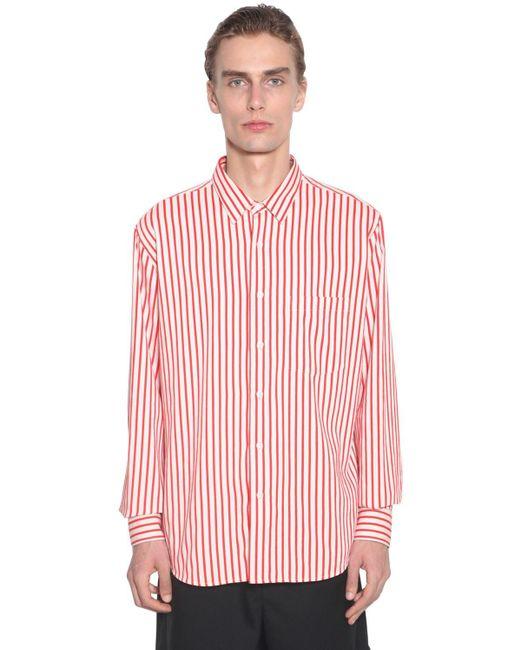 Вискозная Рубашка AMI для него, цвет: Red