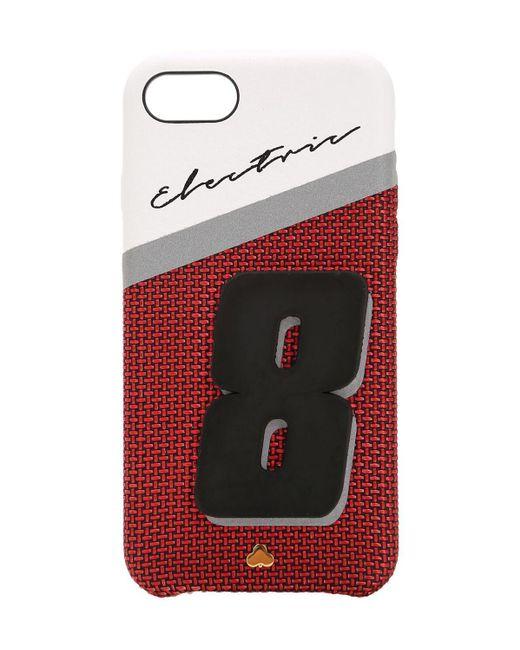 "Чехол ""electric 8"" Из Кожи Для Iphone 7/8 Chaos, цвет: Red"
