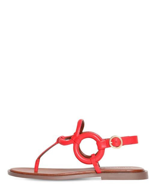 See By Chloé レザートングサンダル 10mm Red