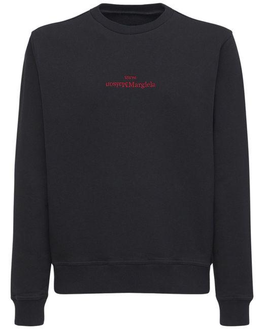 メンズ Maison Margiela コットンスウェットシャツ Black