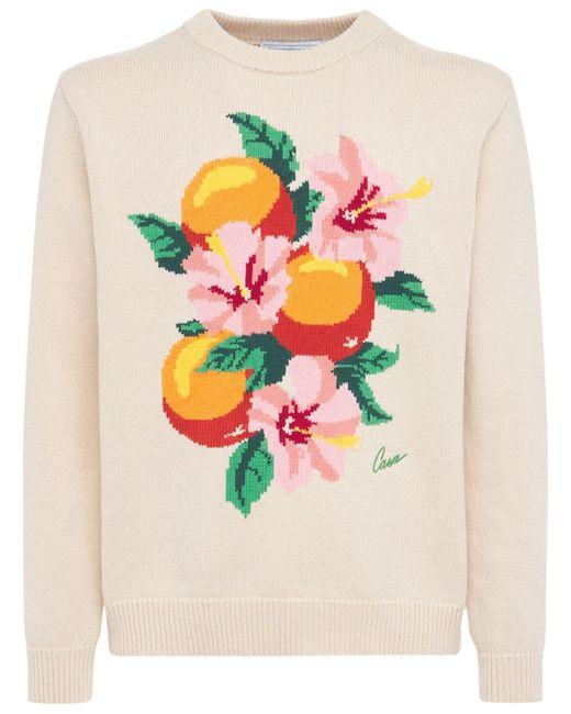 メンズ CASABLANCA Oranges コットンニットセーター Multicolor