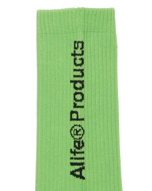 メンズ Alife Products コットンブレンドソックス Green