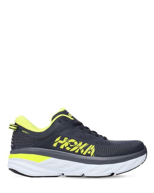 メンズ Hoka One One Bondi 7 Running スニーカー Gray