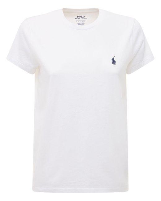 Polo Ralph Lauren コットンジャージーtシャツ White