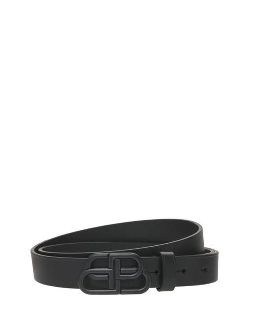 Кожаный Ремень Bb Balenciaga, цвет: Black