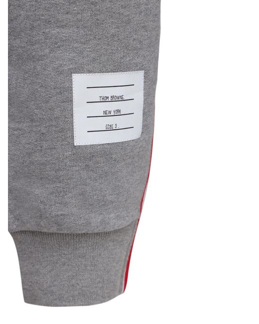 Thom Browne Trainingshose Aus Baumwolle in Gray für Herren