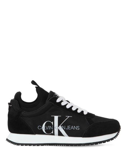 Calvin Klein Josslyn ナイロン&スエードスニーカー 20mm Black