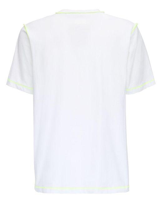 メンズ DIESEL コットンジャージーtシャツ White
