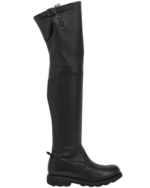 Bikkembergs - Black 20mm High Stretch Washed Leather Boots - Lyst