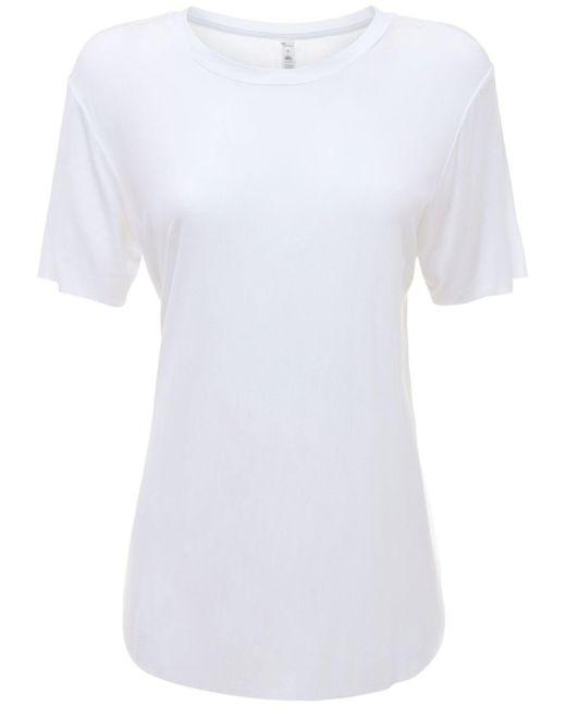 Alo Yoga Lithe Tシャツ White