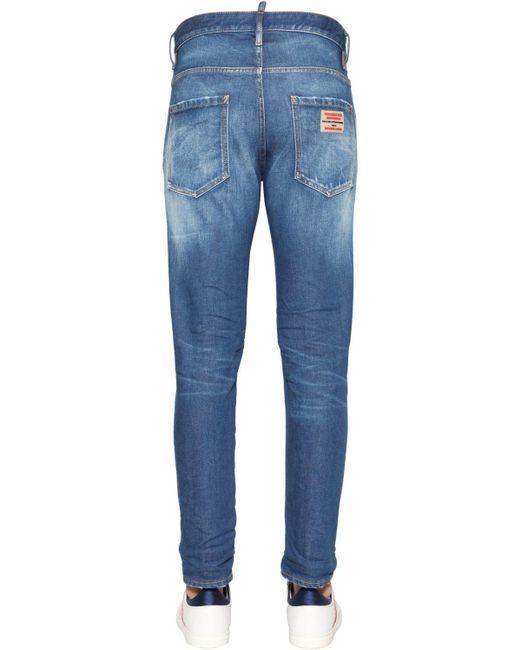 メンズ DSquared² コットンデニムジーンズ 16cm Blue