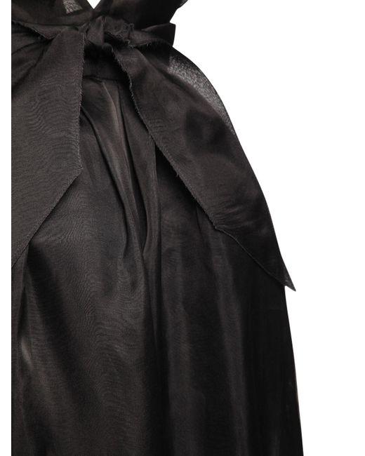 Платье Из Шелковой Органзы Brock Collection, цвет: Black