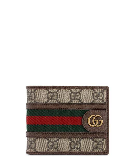 メンズ Gucci 【公式】 (グッチ)〔オフィディア〕GGコイン ウォレットGGスプリーム ベージュ Brown