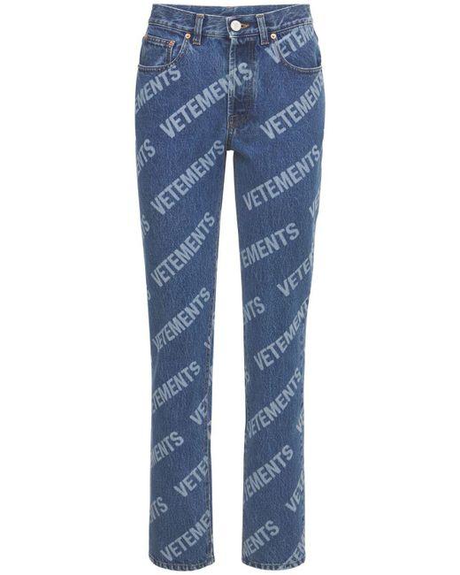 Vetements コットンデニムジーンズ Blue