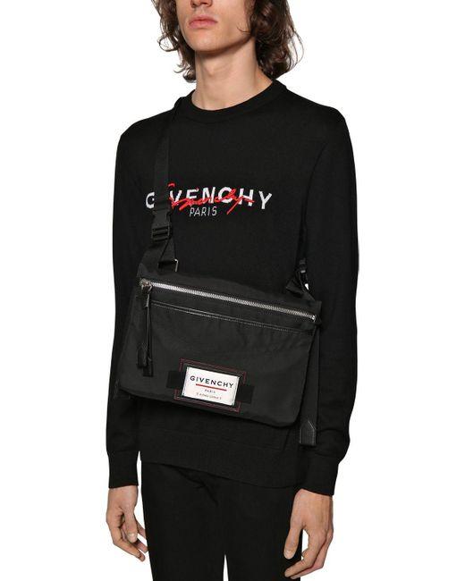 メンズ Givenchy クロスボディナイロンバッグ Black