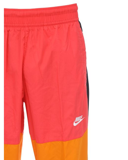Pantaloni In Techno Tessuto di Nike in Red da Uomo