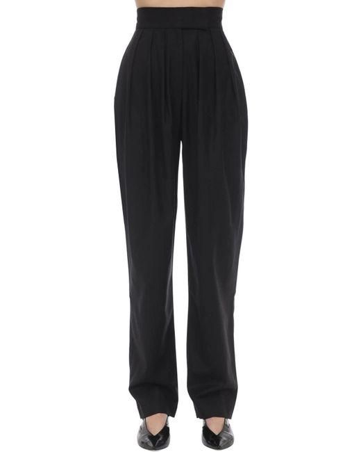 High Waist Wool Blend Pants Matériel, цвет: Black