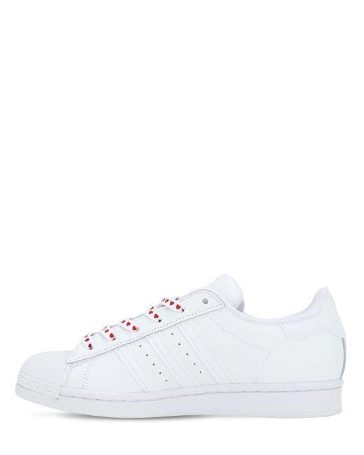 Adidas Originals Superstar レザースニーカー White