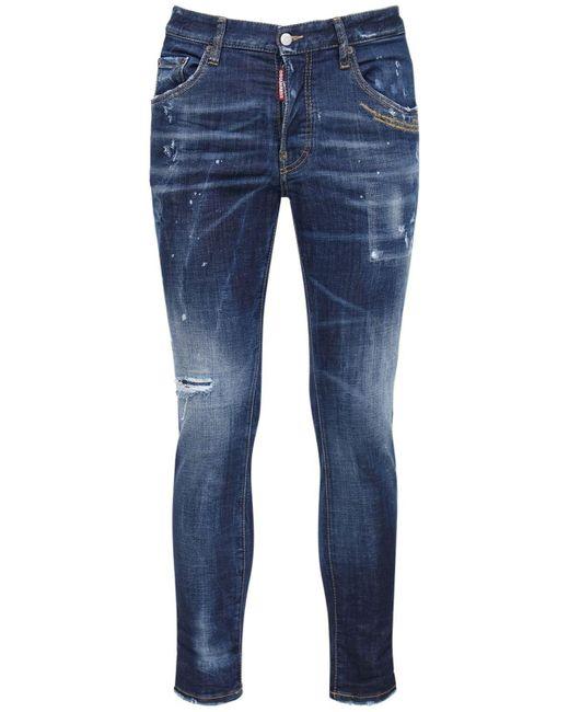 """Джинсы Из Хлопкового Денима """"skater"""" 16.5cm DSquared² для него, цвет: Blue"""