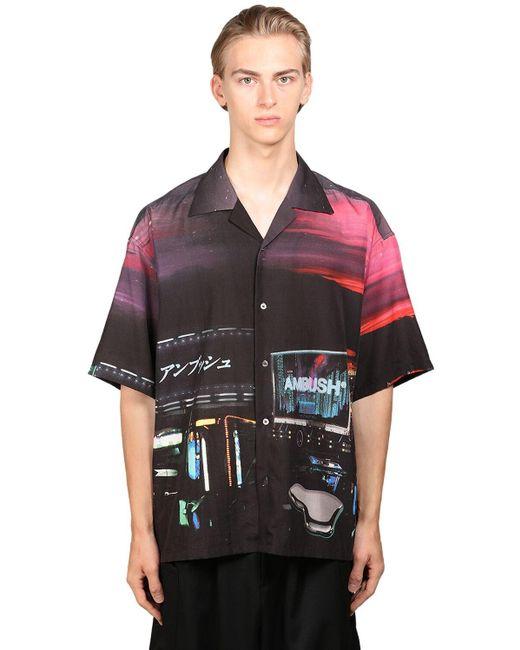 Camisa bowler Dekotora Ambush de hombre de color Black