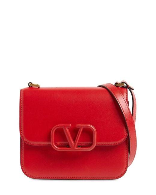 Valentino Garavani Vsling レザーショルダーバッグ Red