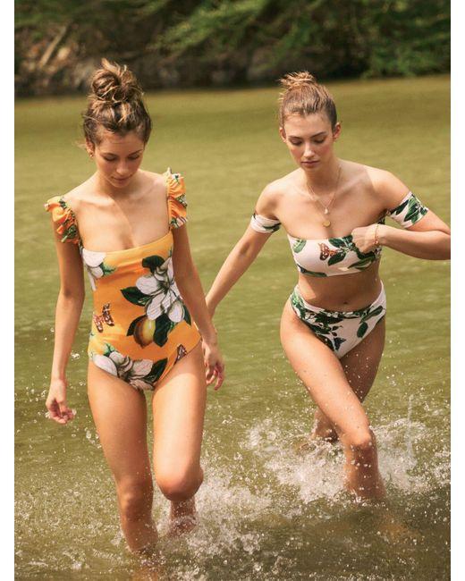 Agua Bendita Celia ビキニトップ Green
