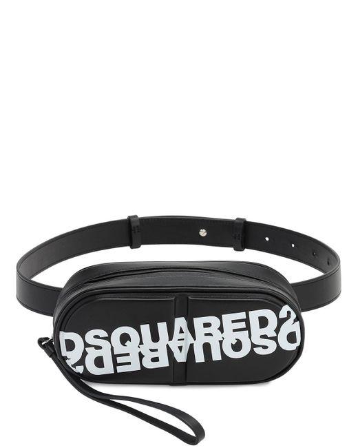DSquared² Pills レザーベルトバッグ Black