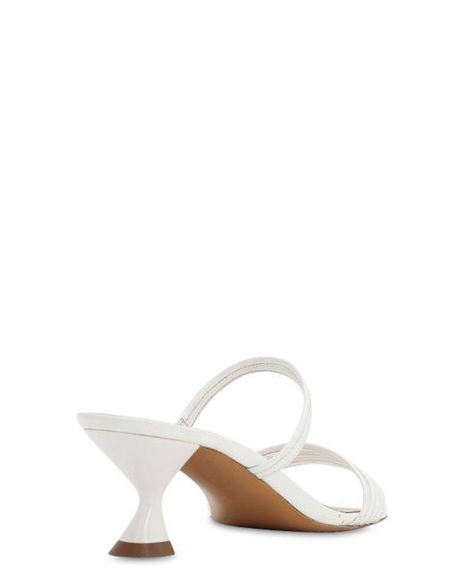 Kalda White 45mm Hohe Sandaletten Aus Lackleder