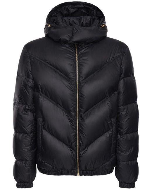 Нейлоновый Пуховик С Логотипом Versace для него, цвет: Black