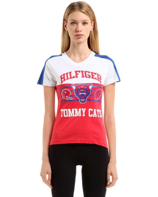 Tommy Hilfiger Hilfiger Tomcats コットンtシャツ Red