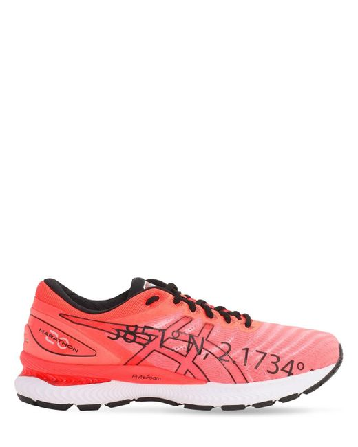 Asics Red Gel-nimbus 22 'city Pack' Bcn Sneakers for men