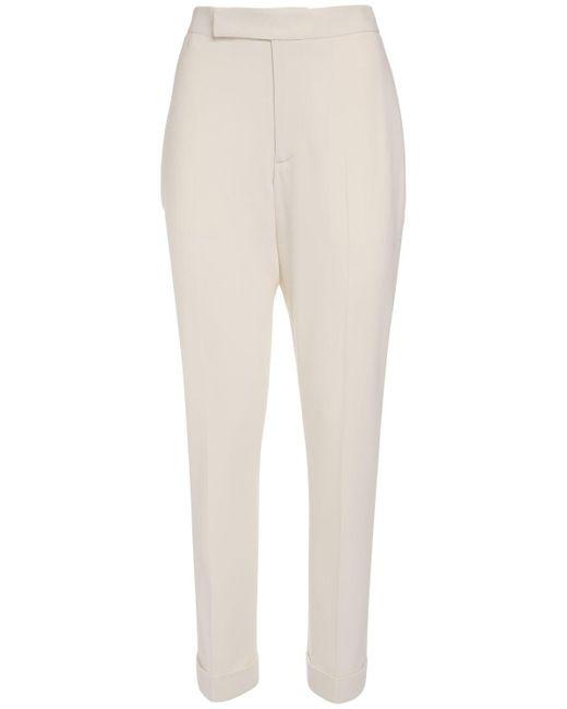 Ralph Lauren Collection ウールクレープパンツ White