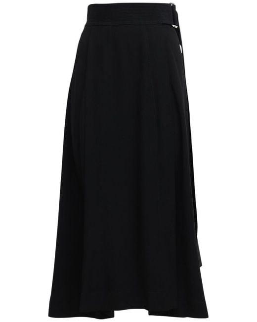 Victoria Beckham サテンクレープスカート Black