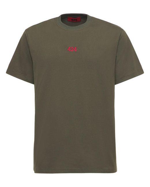 メンズ 424 コットンtシャツ Green