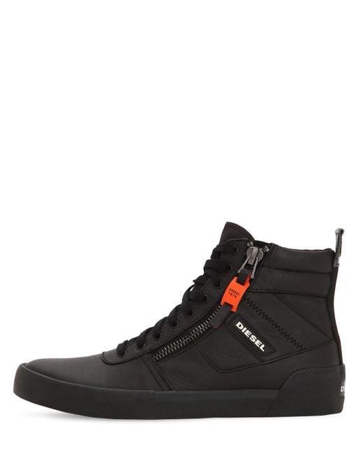 DIESEL Leather Black S-dvelows High-top