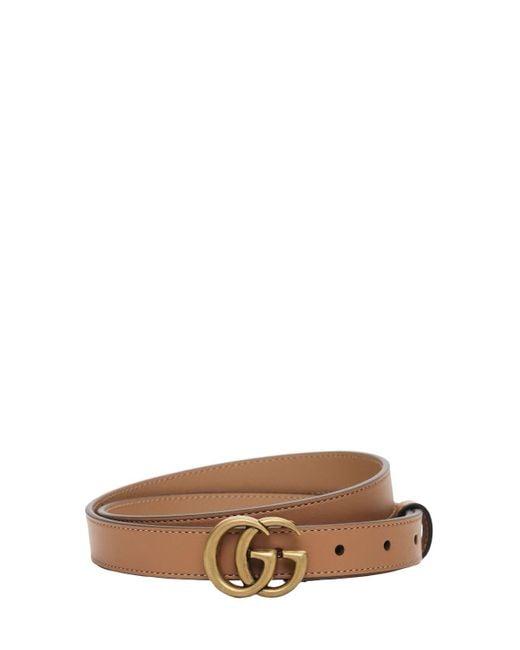 "Кожаный Ремень ""gg Marmont"" 20мм Gucci, цвет: Brown"