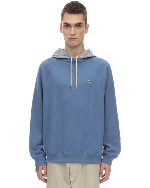 メンズ Lacoste コットンスウェットシャツ Blue