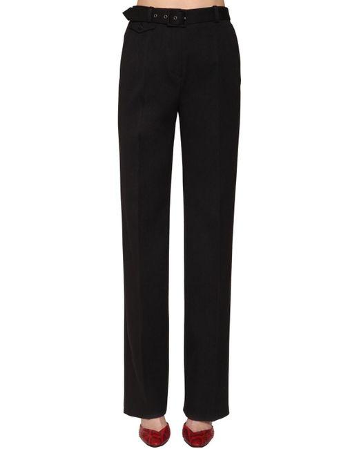 Givenchy ウールドリル ストレートレッグパンツ Black