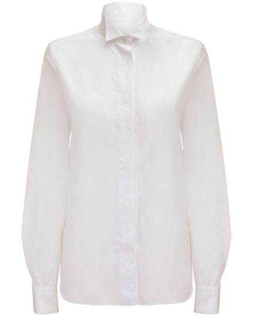 Alexandre Vauthier コットンポプリンシャツ White