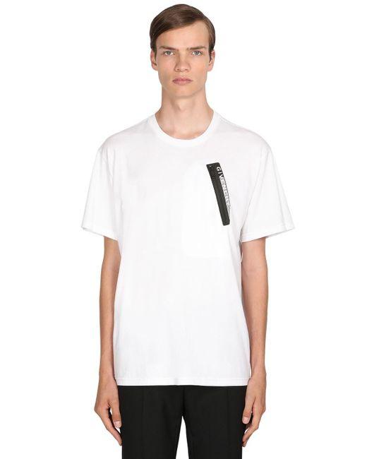 メンズ Givenchy コットンジャージーtシャツ White
