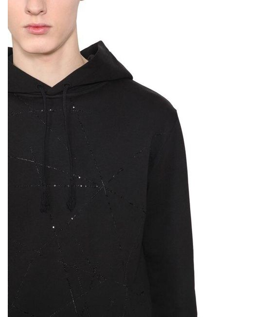 Свитшот Из Хлопка Saint Laurent для него, цвет: Black