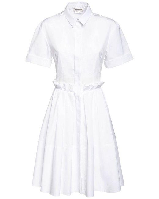 Alexander McQueen コットンポプリンシャツドレス White