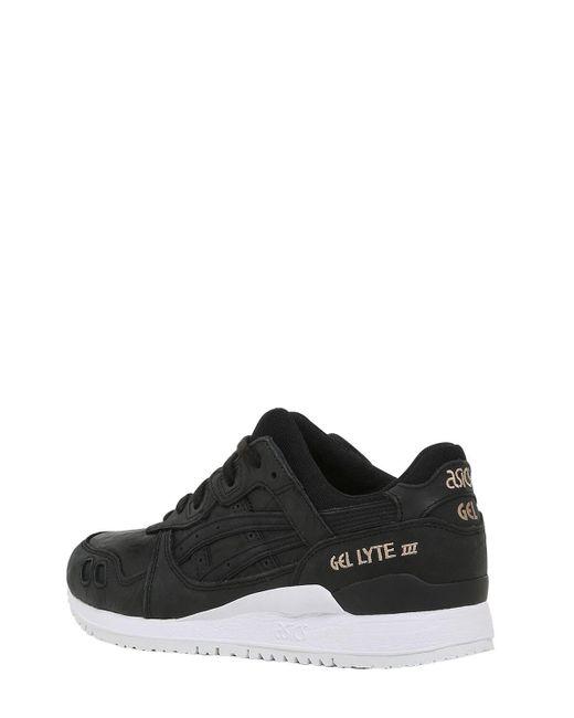 on sale 9cc4b e656b Women's Black Gel Lyte Iii Wrinkled Leather Sneakers