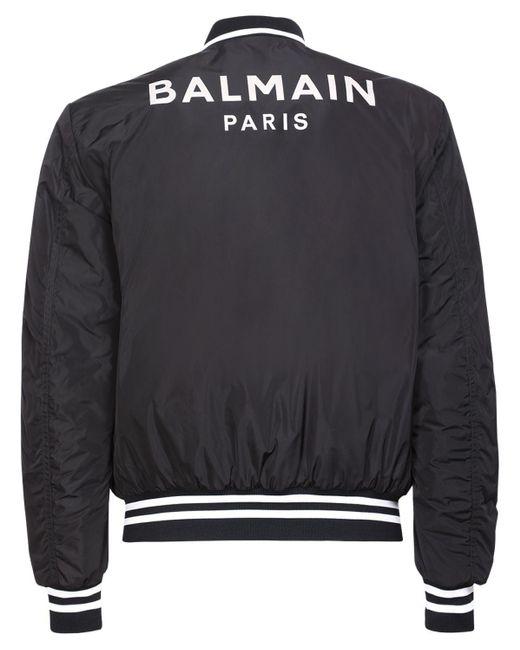 メンズ Balmain テックボンバージャケット Black