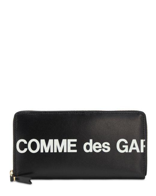 Кожаный Кошелёк С Принтом Логотипа Comme des Garçons для него, цвет: Black