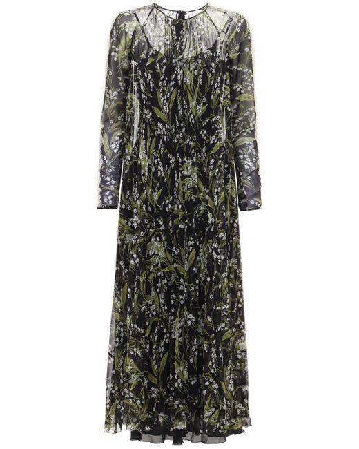 Платье Из Муслин С Принтом RED Valentino, цвет: Black