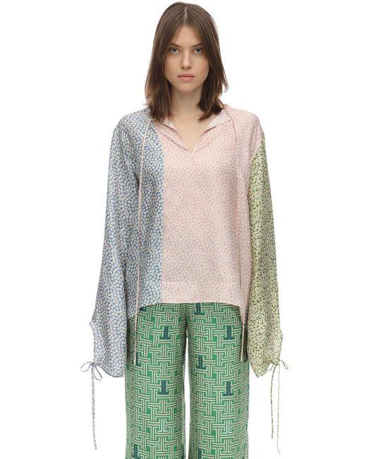 Lanvin シルクサテン シャツ Multicolor