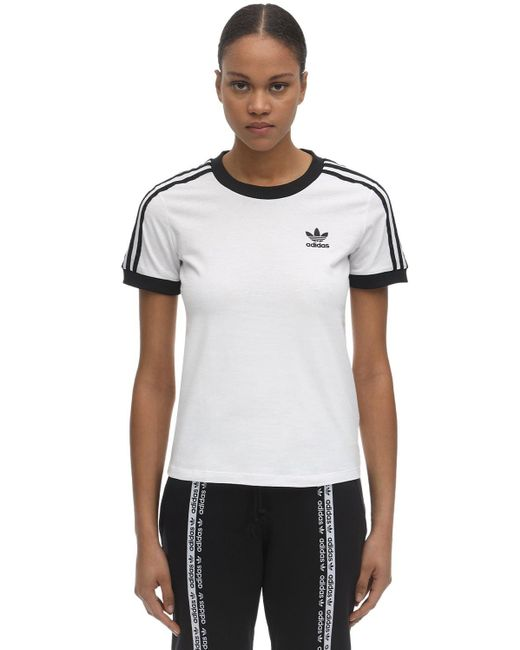 Adidas Originals コットンジャージーtシャツ White