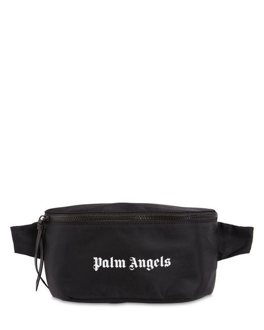 メンズ Palm Angels ナイロンベルトバッグ Black
