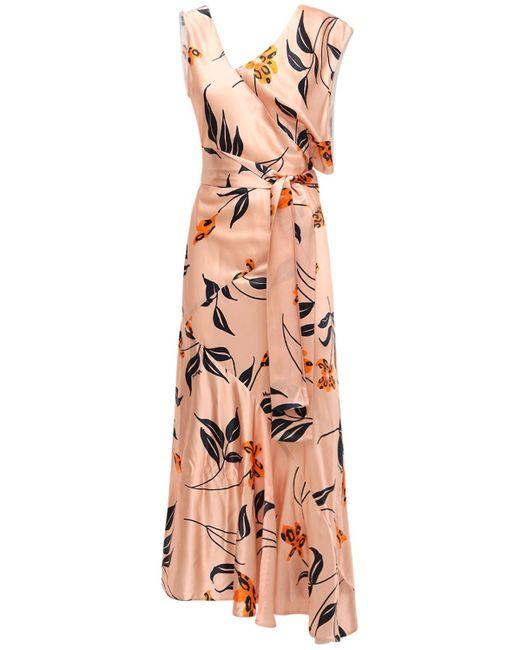 Marni Floral アシンメトリードレス Multicolor